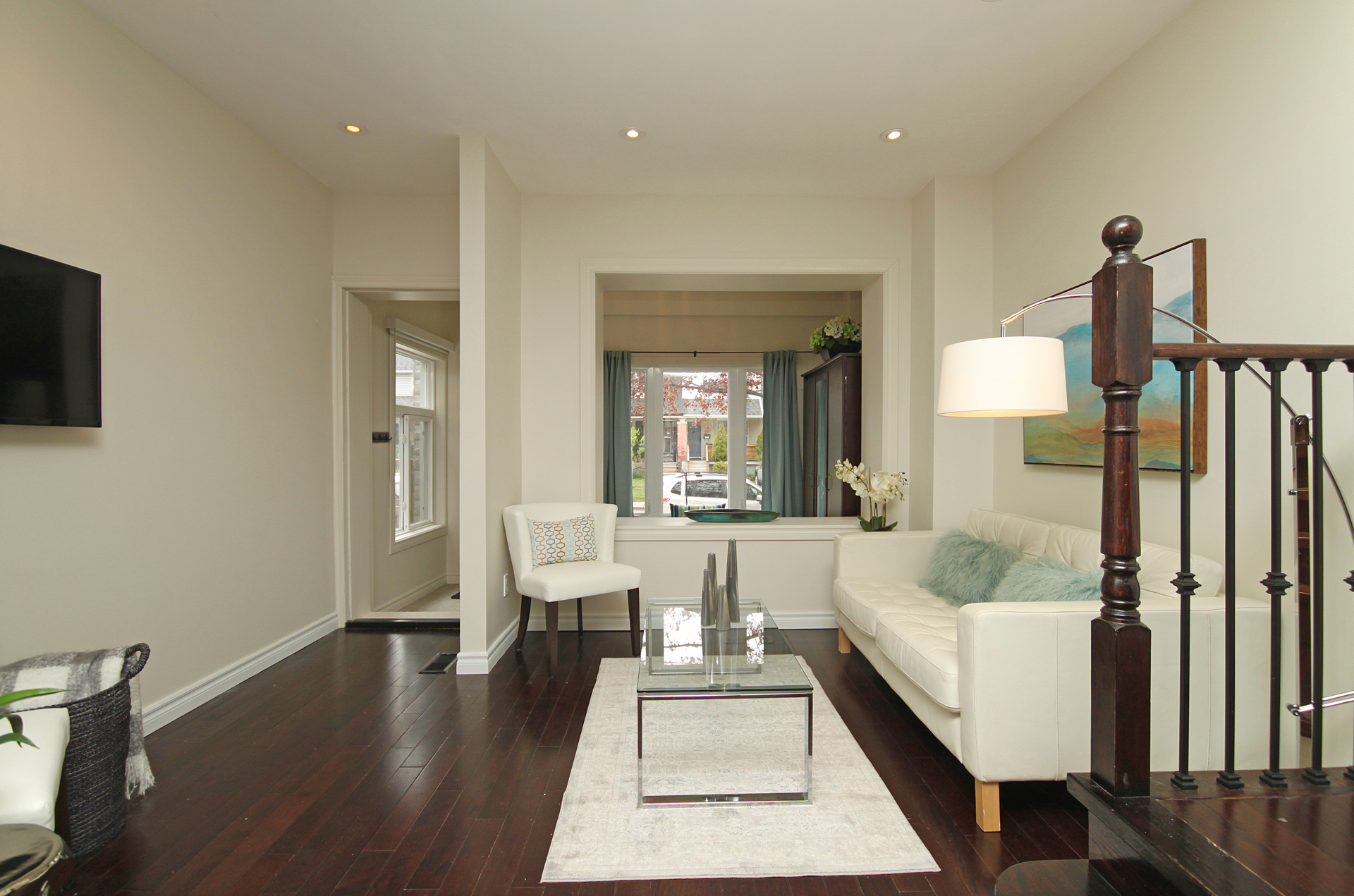 Living Room at 241 Milverton Boulevard, Danforth, Toronto
