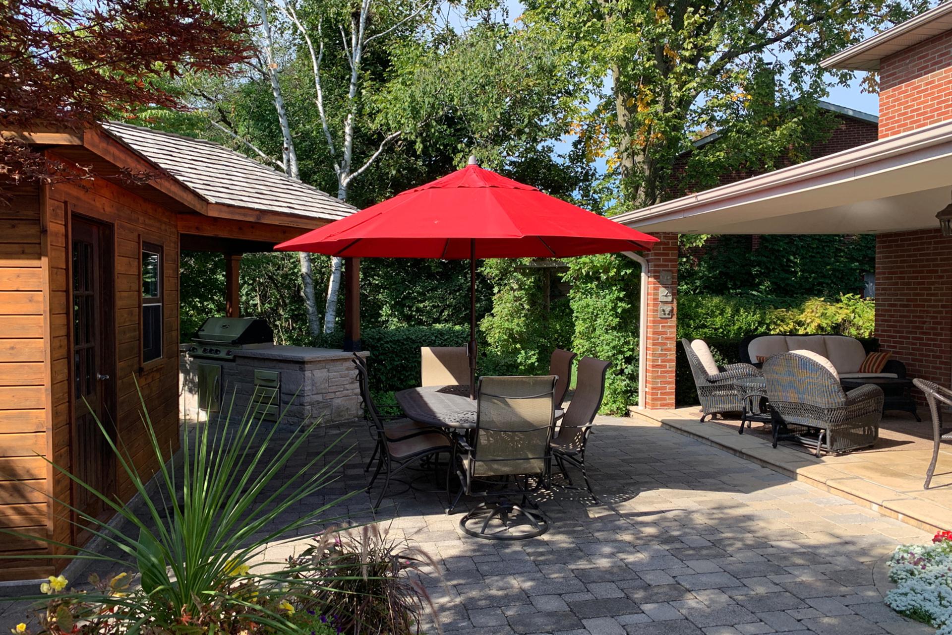 Backyard at 12 Summerton Place, Tam O\'Shanter-Sullivan, Toronto