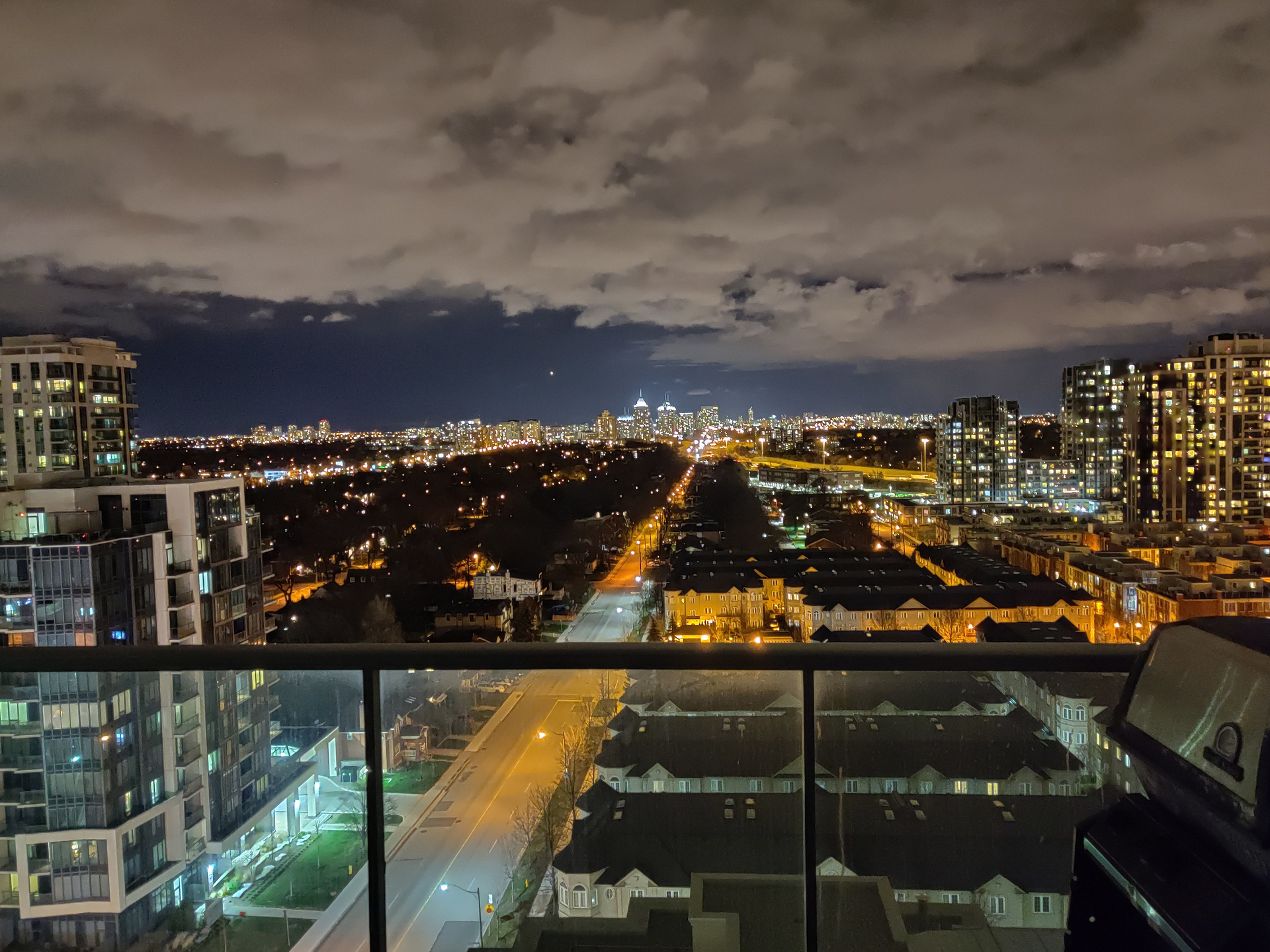View from Balcony at 906 - 1 Avondale Avenue, Willowdale East, Toronto