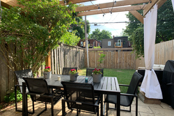 Backyard at 21 Berkshire Avenue, South Riverdale, Toronto