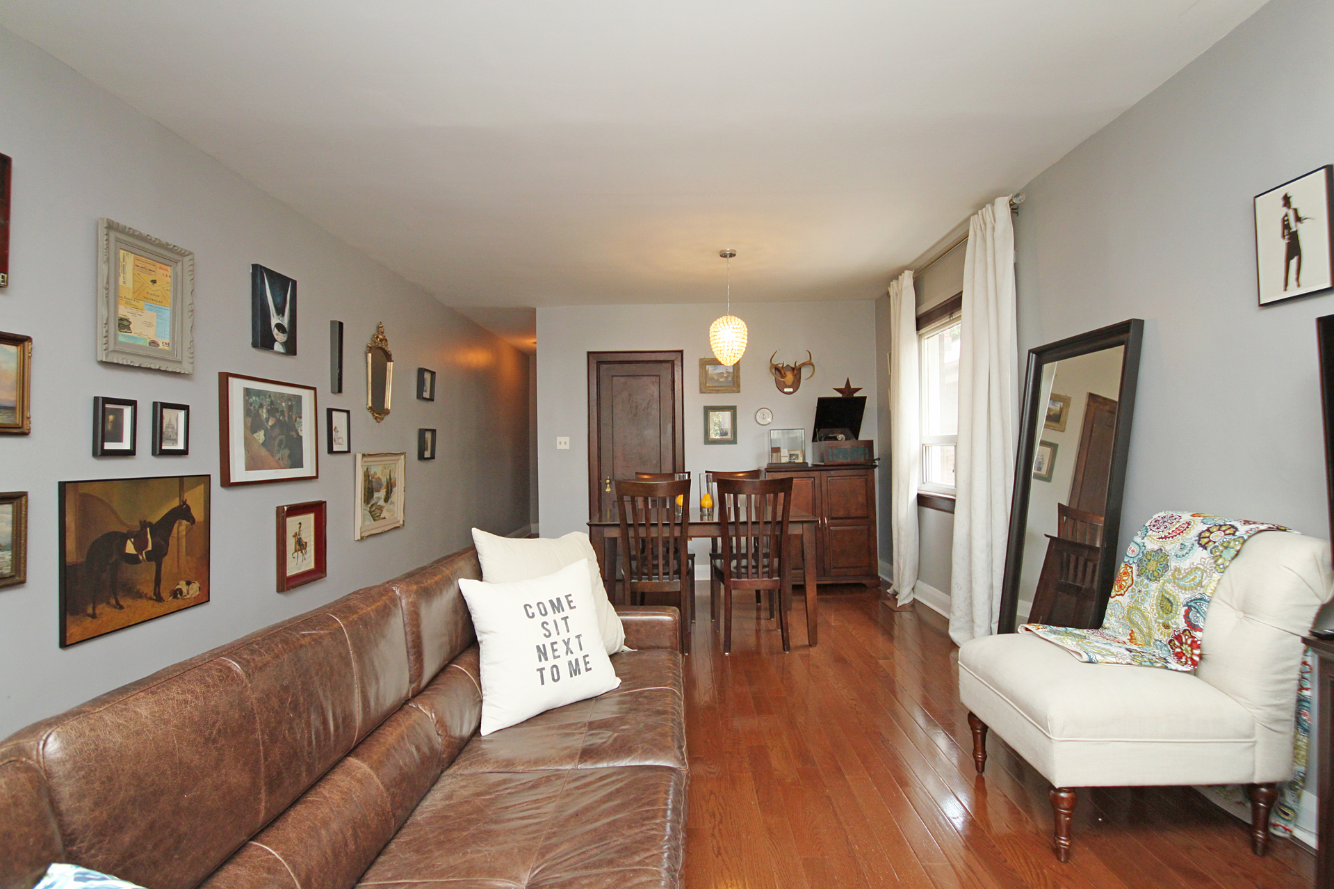Living & Dining Room at 21 Berkshire Avenue, South Riverdale, Toronto