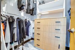 Primary Bedroom Walk-in Closet at 97 Denlow Boulevard, Banbury-Don Mills, Toronto