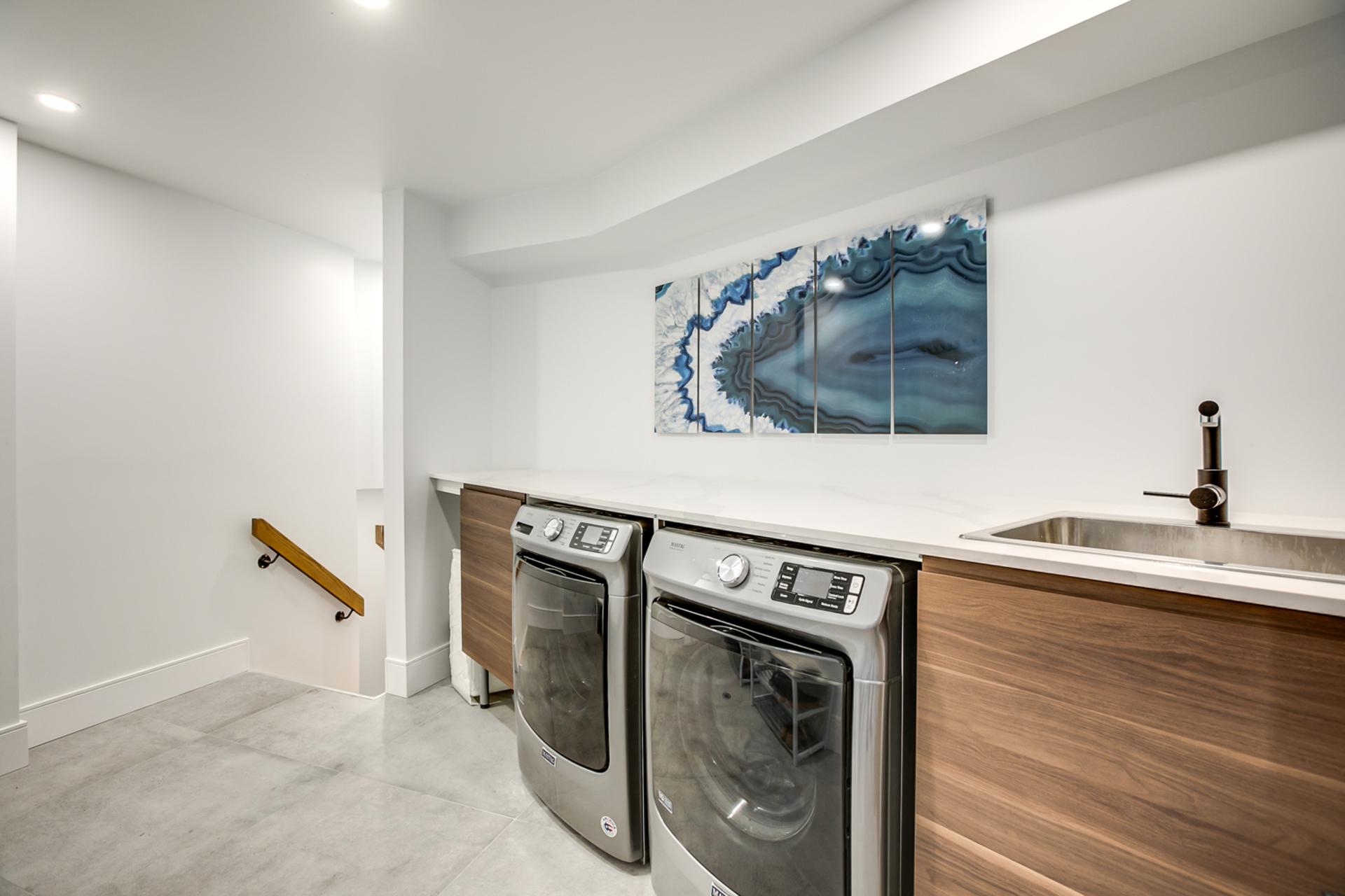 Laundry Room at 97 Denlow Boulevard, Banbury-Don Mills, Toronto