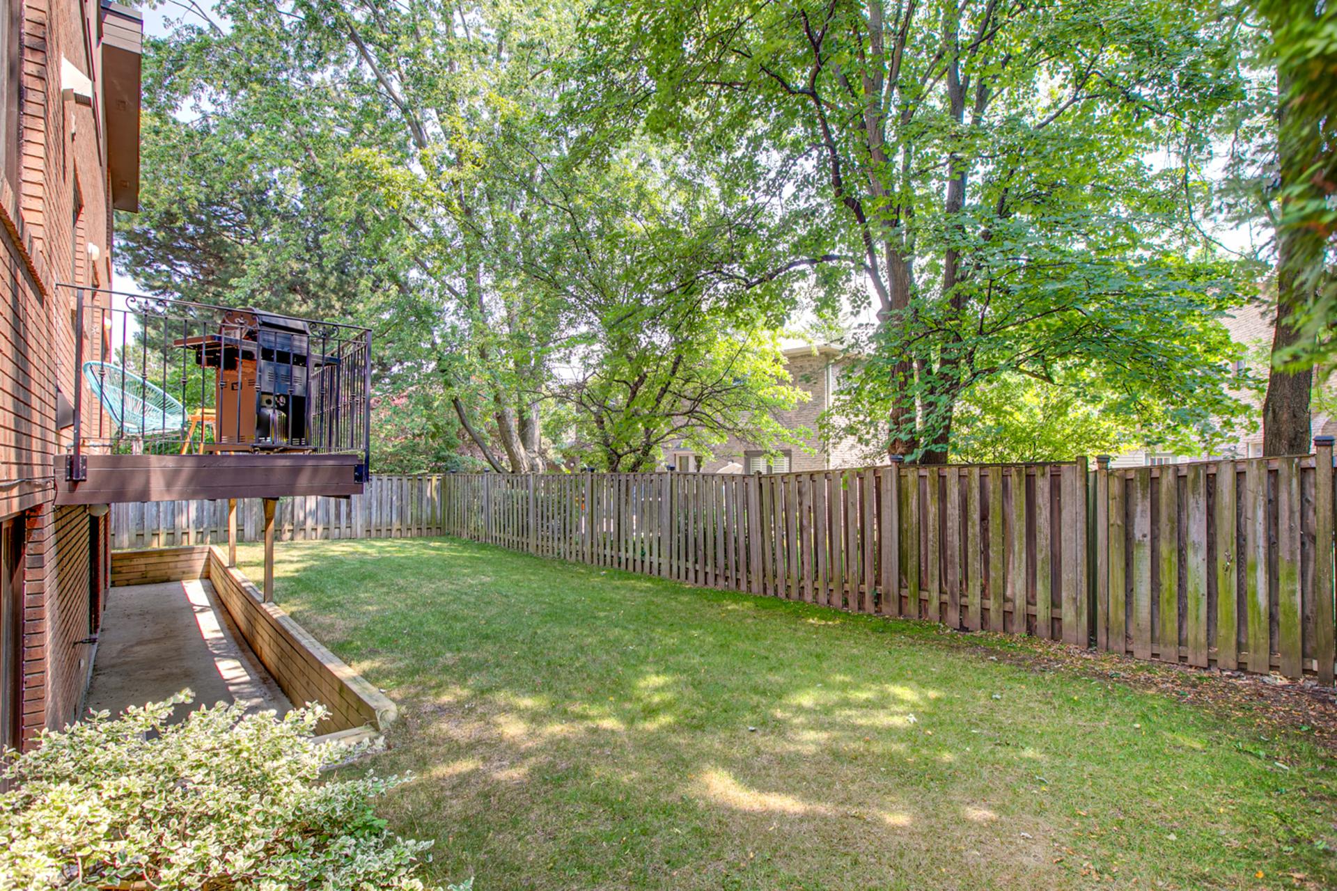 Backyard at 97 Denlow Boulevard, Banbury-Don Mills, Toronto