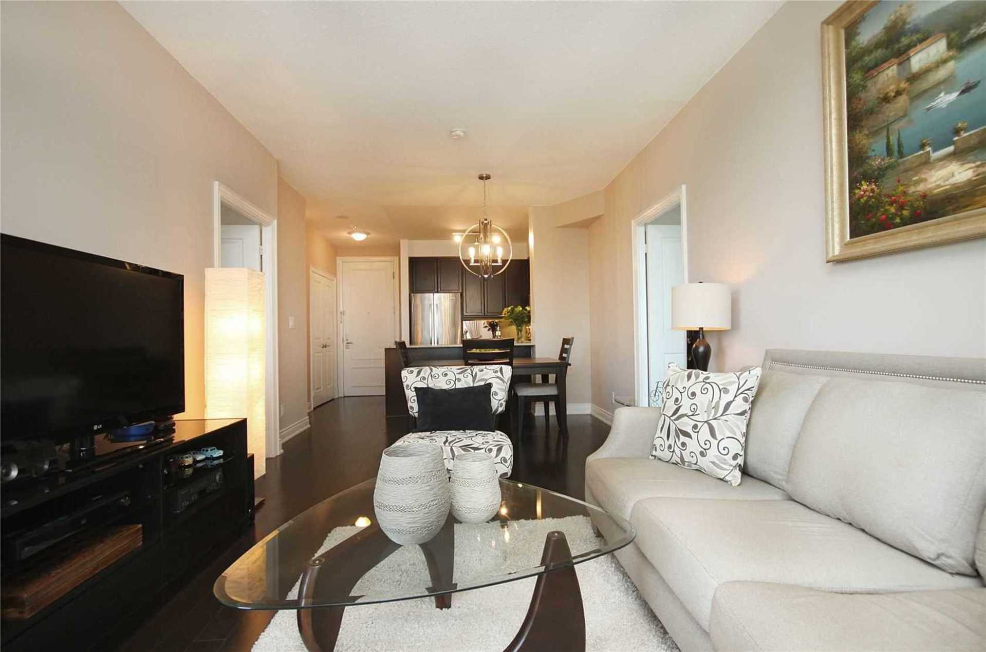Living Room at 1209 - 10 Bloorview Place, Don Valley Village, Toronto