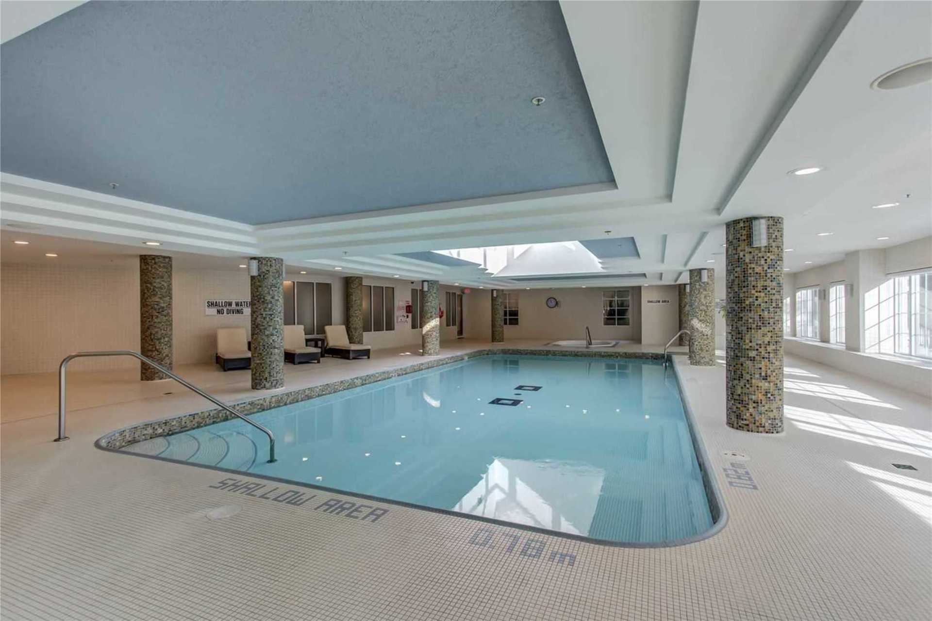 Indoor Pool at 1209 - 10 Bloorview Place, Don Valley Village, Toronto