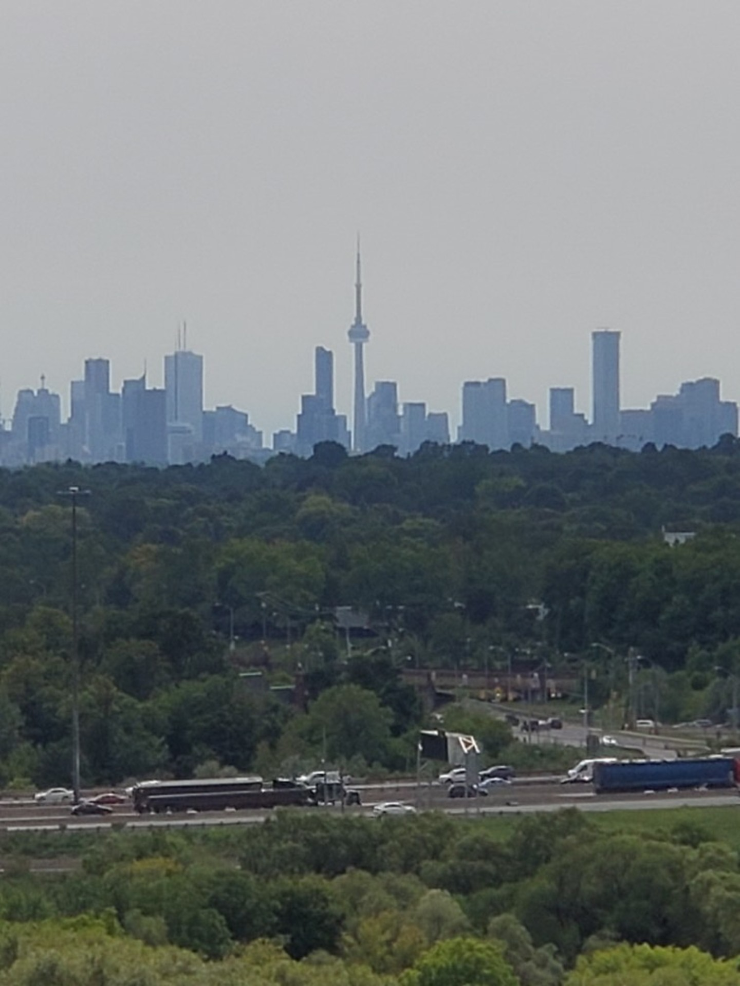 View from Balcony at 1209 - 10 Bloorview Place, Don Valley Village, Toronto