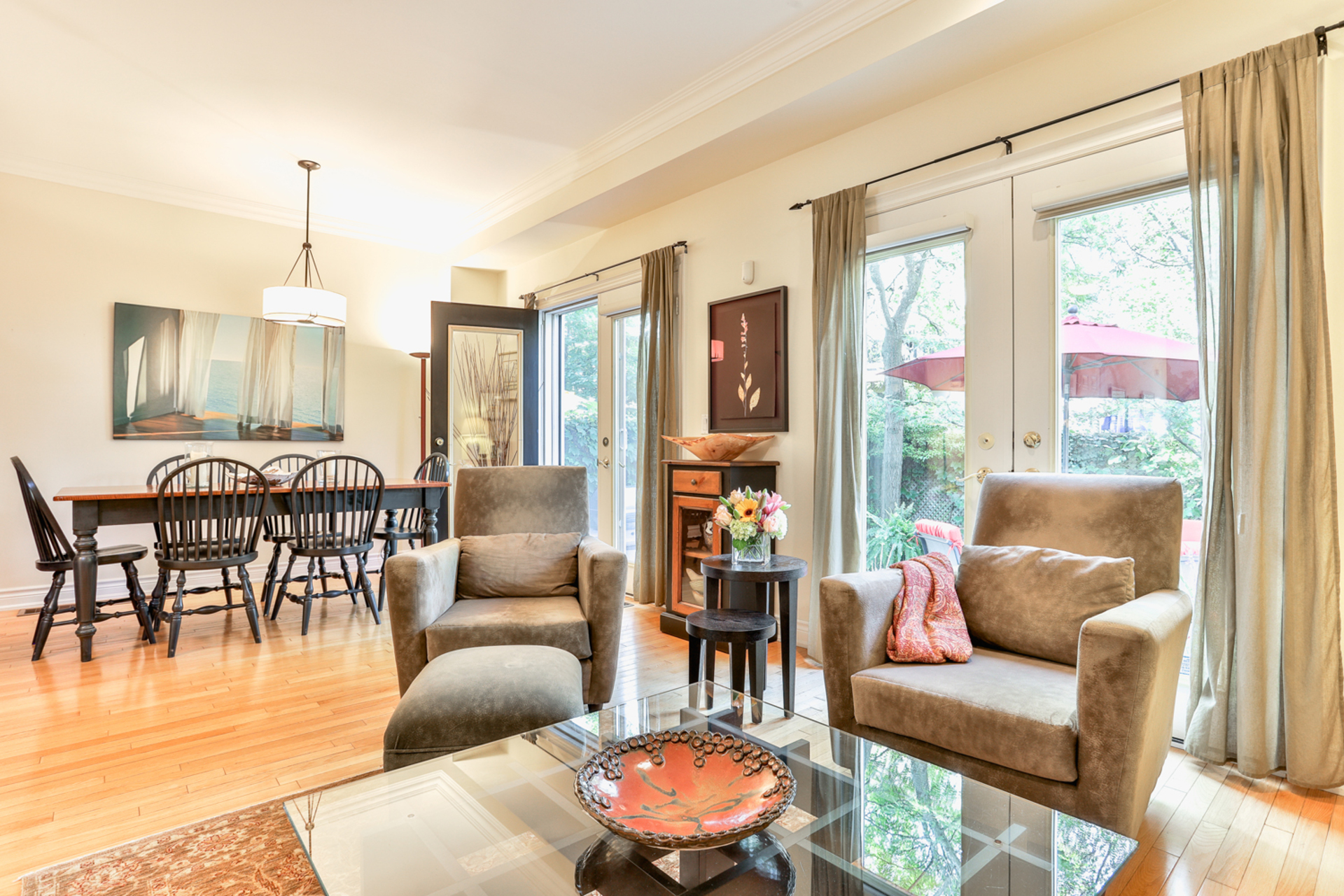 Living & Dining Room at 131 Barber Greene Road, Banbury-Don Mills, Toronto