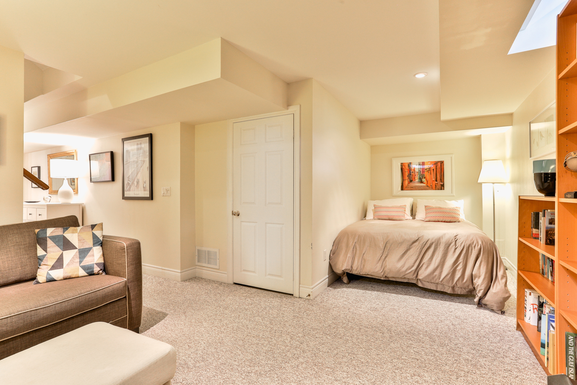 Recreation Room & Guest Bedroom at 131 Barber Greene Road, Banbury-Don Mills, Toronto