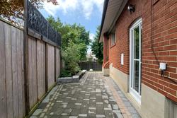 Side Yard at 10 Mere Court, Victoria Village, Toronto