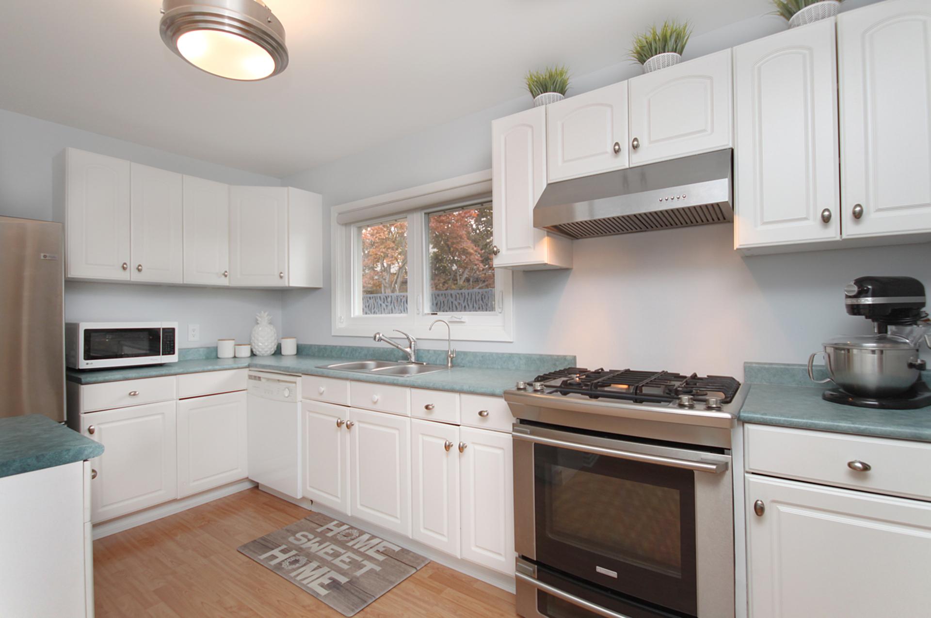 Kitchen at 10 Mere Court, Victoria Village, Toronto