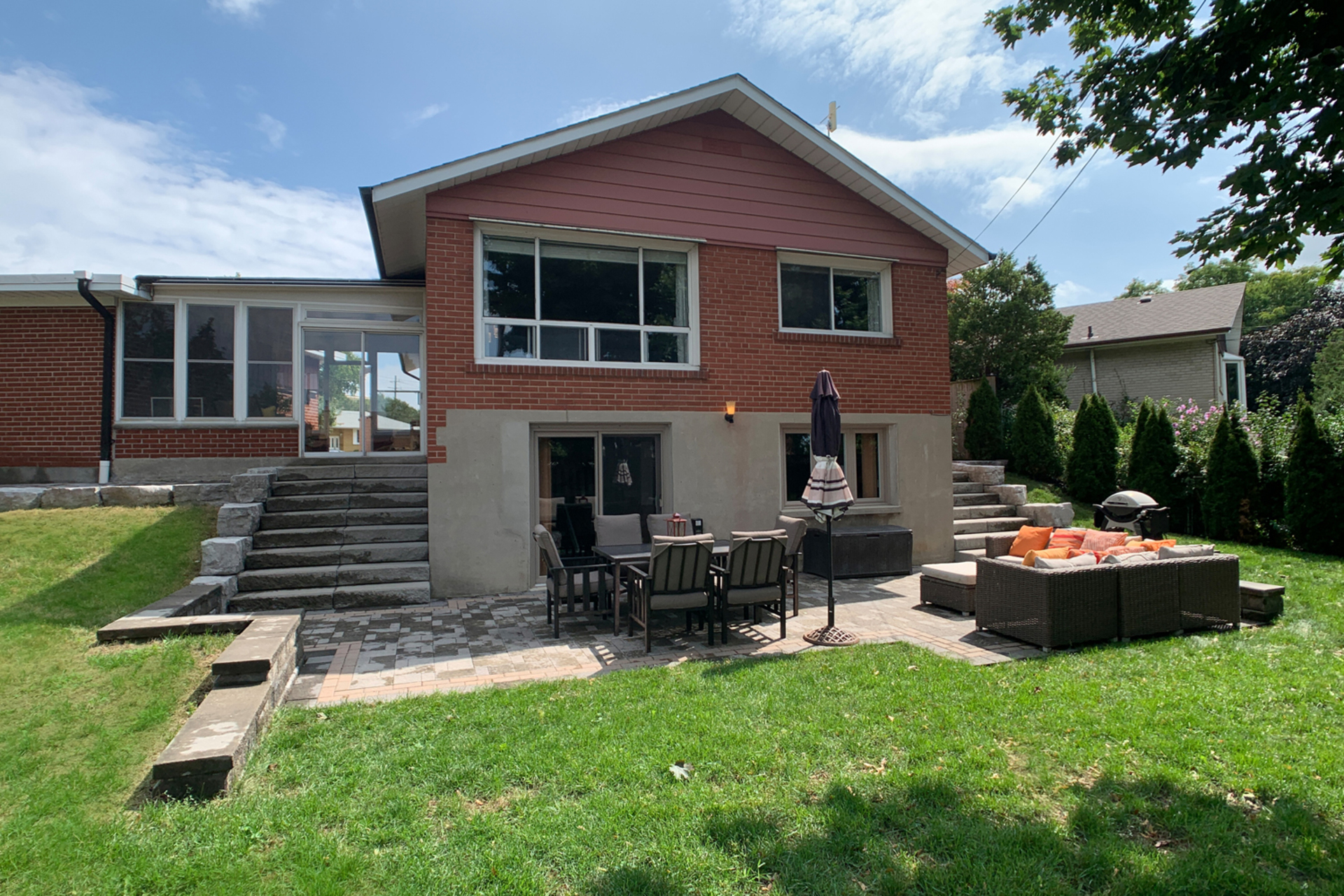 Backyard at 10 Mere Court, Victoria Village, Toronto