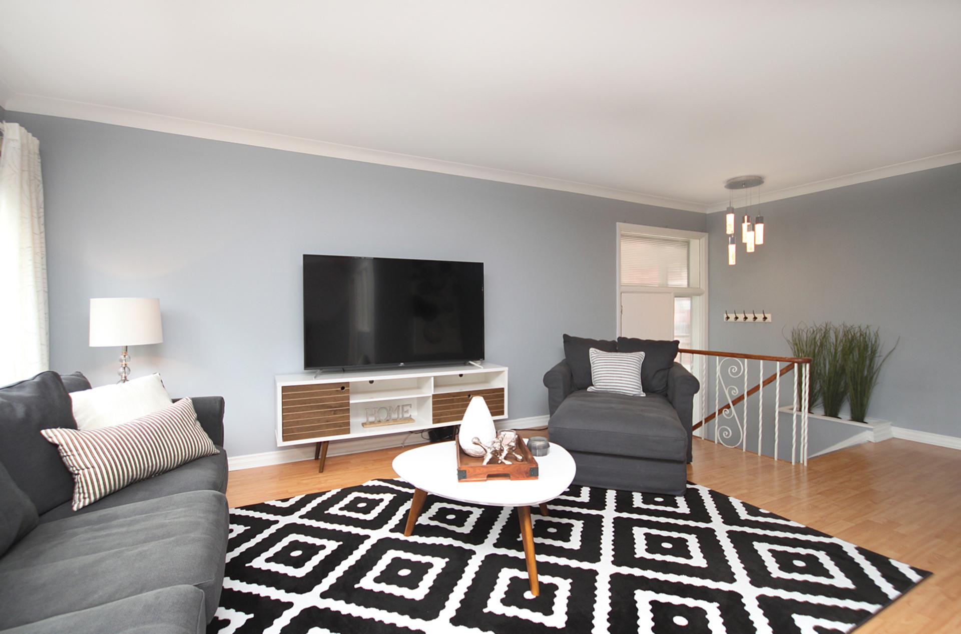 Living Room at 10 Mere Court, Victoria Village, Toronto