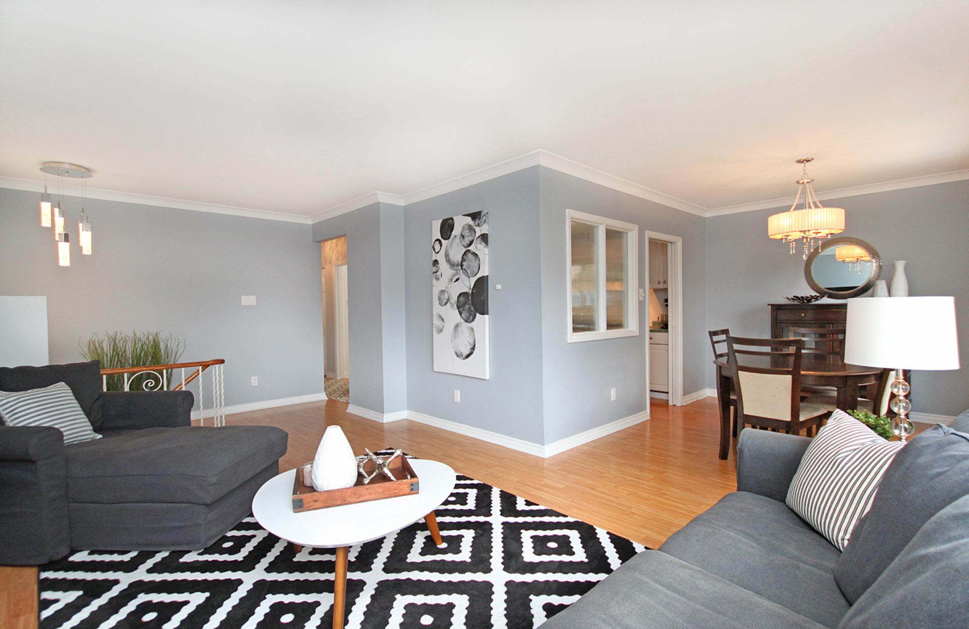 Living & Dining Room at 10 Mere Court, Victoria Village, Toronto
