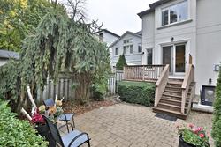 Backyard at 75 Jedburgh Road, Lawrence Park North, Toronto