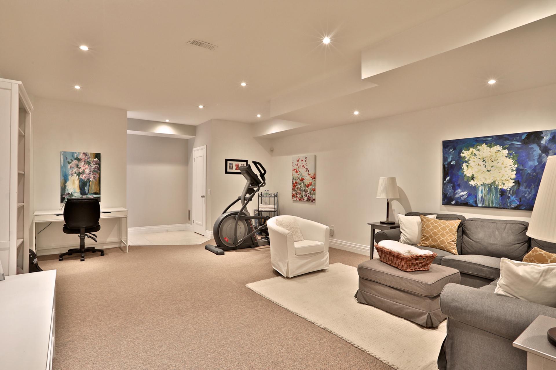 Recreation Room at 75 Jedburgh Road, Lawrence Park North, Toronto