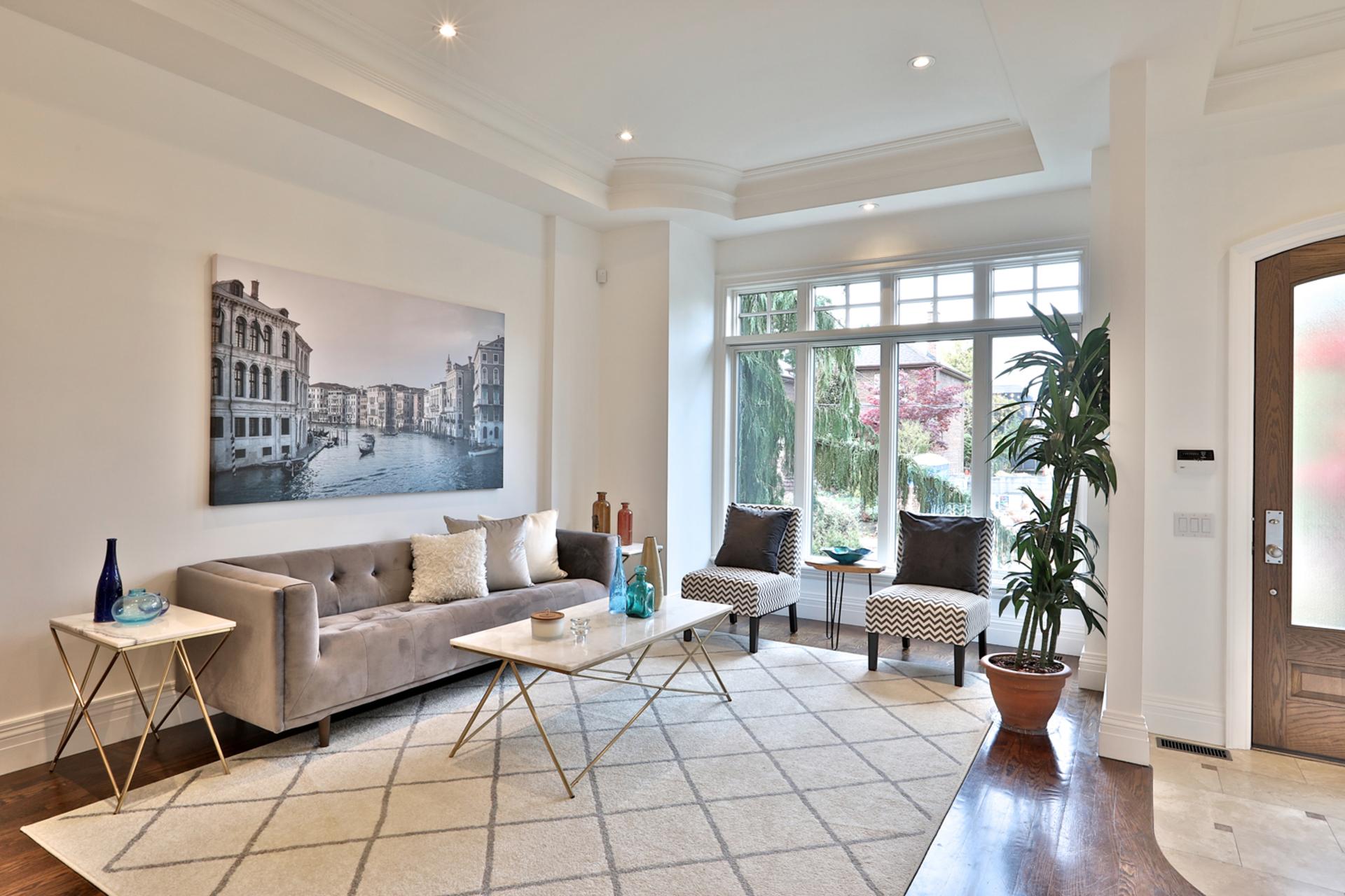 Living Room at 75 Jedburgh Road, Lawrence Park North, Toronto