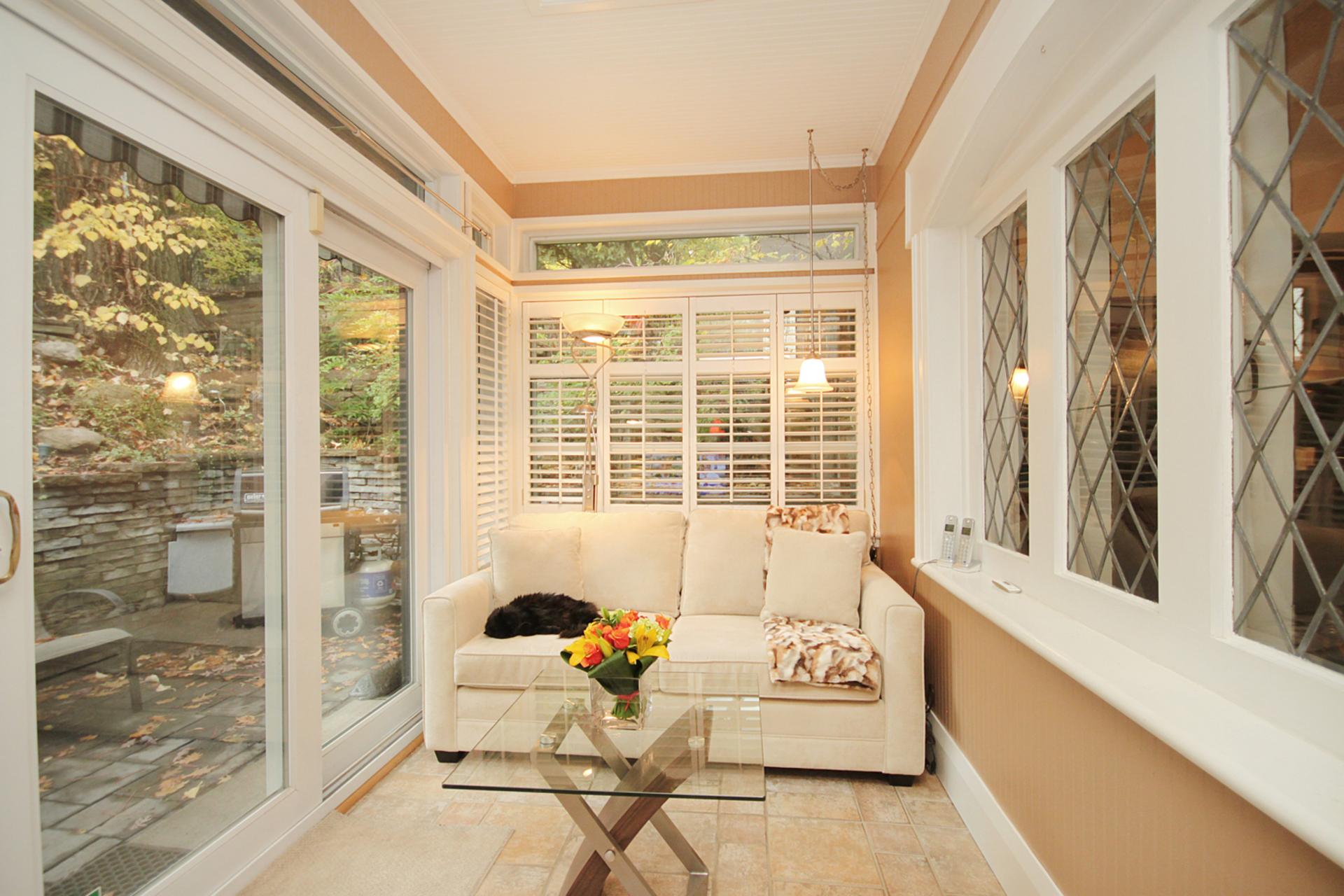 Sunroom at 348 Glen Manor Drive, The Beaches, Toronto