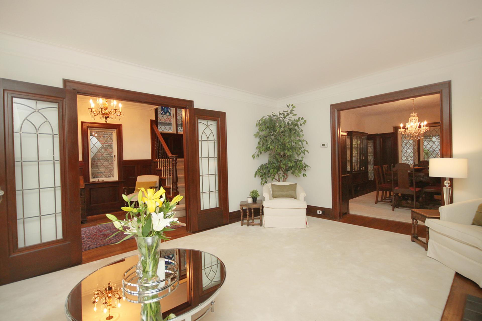 Living Room at 348 Glen Manor Drive, The Beaches, Toronto