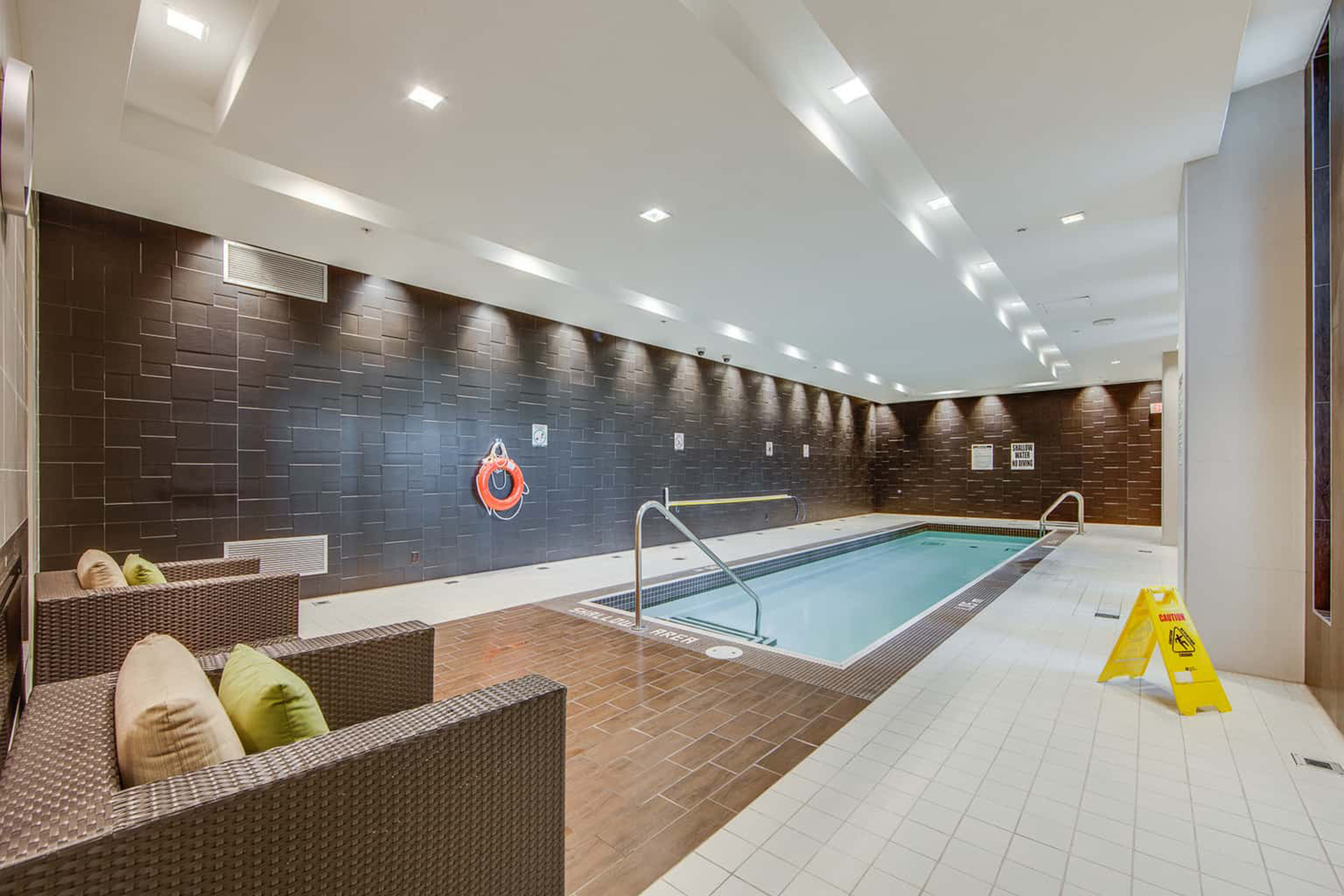 Indoor Pool at 122 - 35 Brian Peck Crescent, Leaside, Toronto