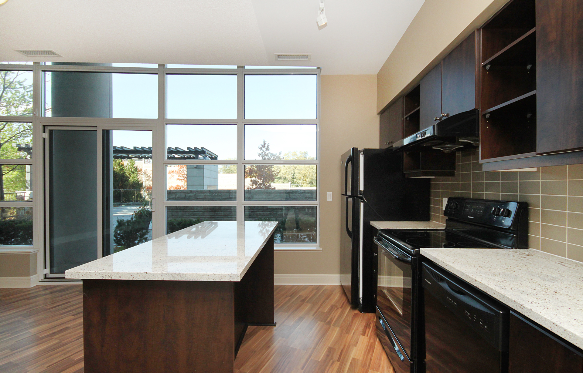 Kitchen at 122 - 35 Brian Peck Crescent, Leaside, Toronto