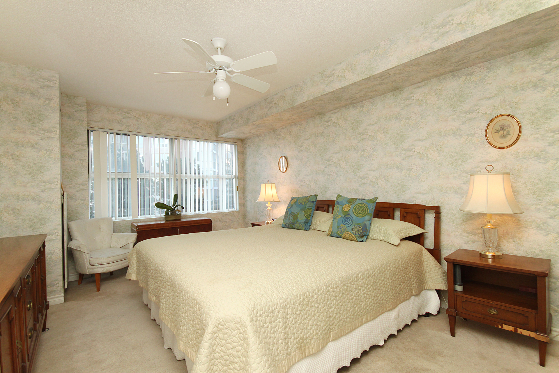 Primary Bedroom at 201 - 18 Concorde Place, Banbury-Don Mills, Toronto