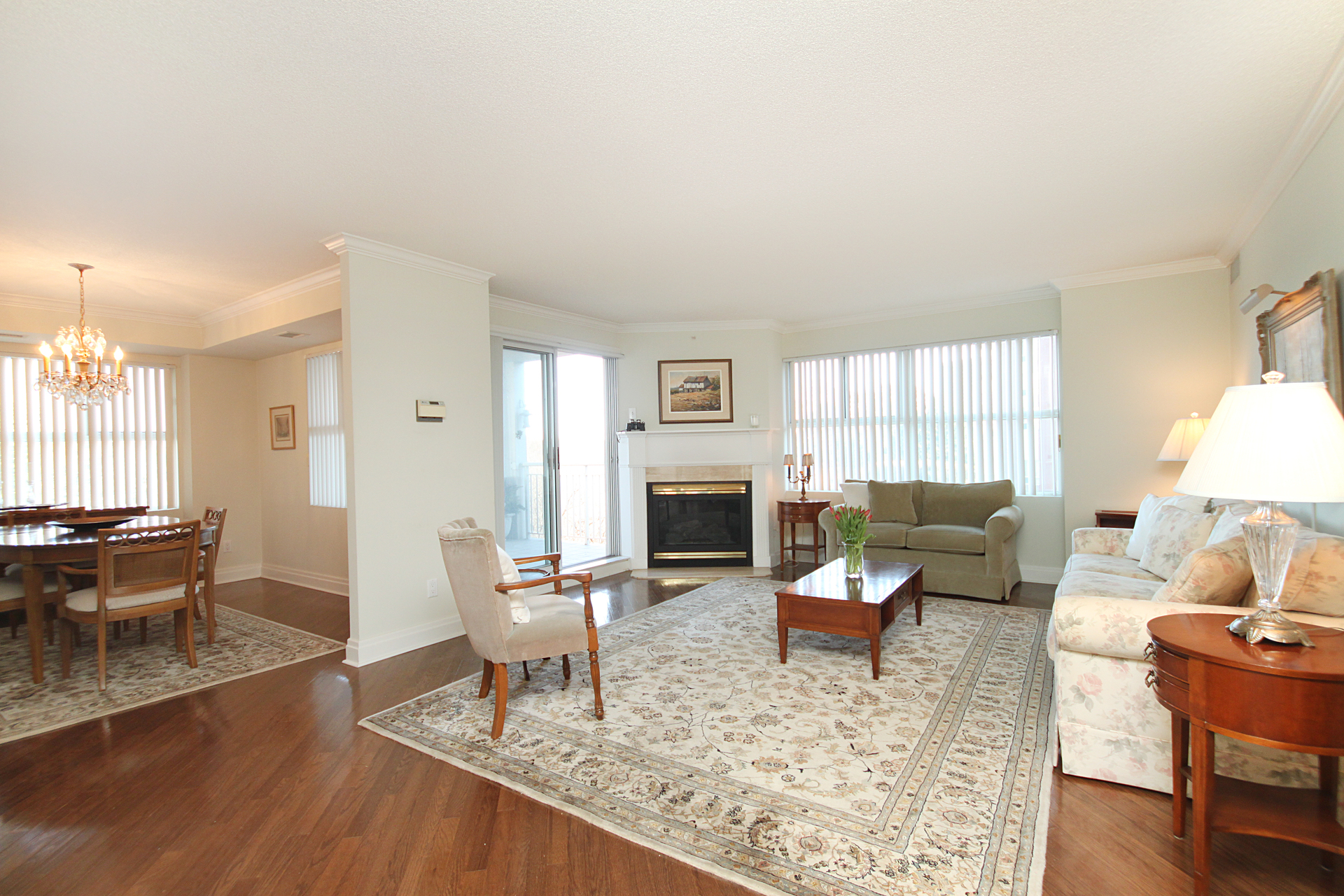 Living Room at 201 - 18 Concorde Place, Banbury-Don Mills, Toronto