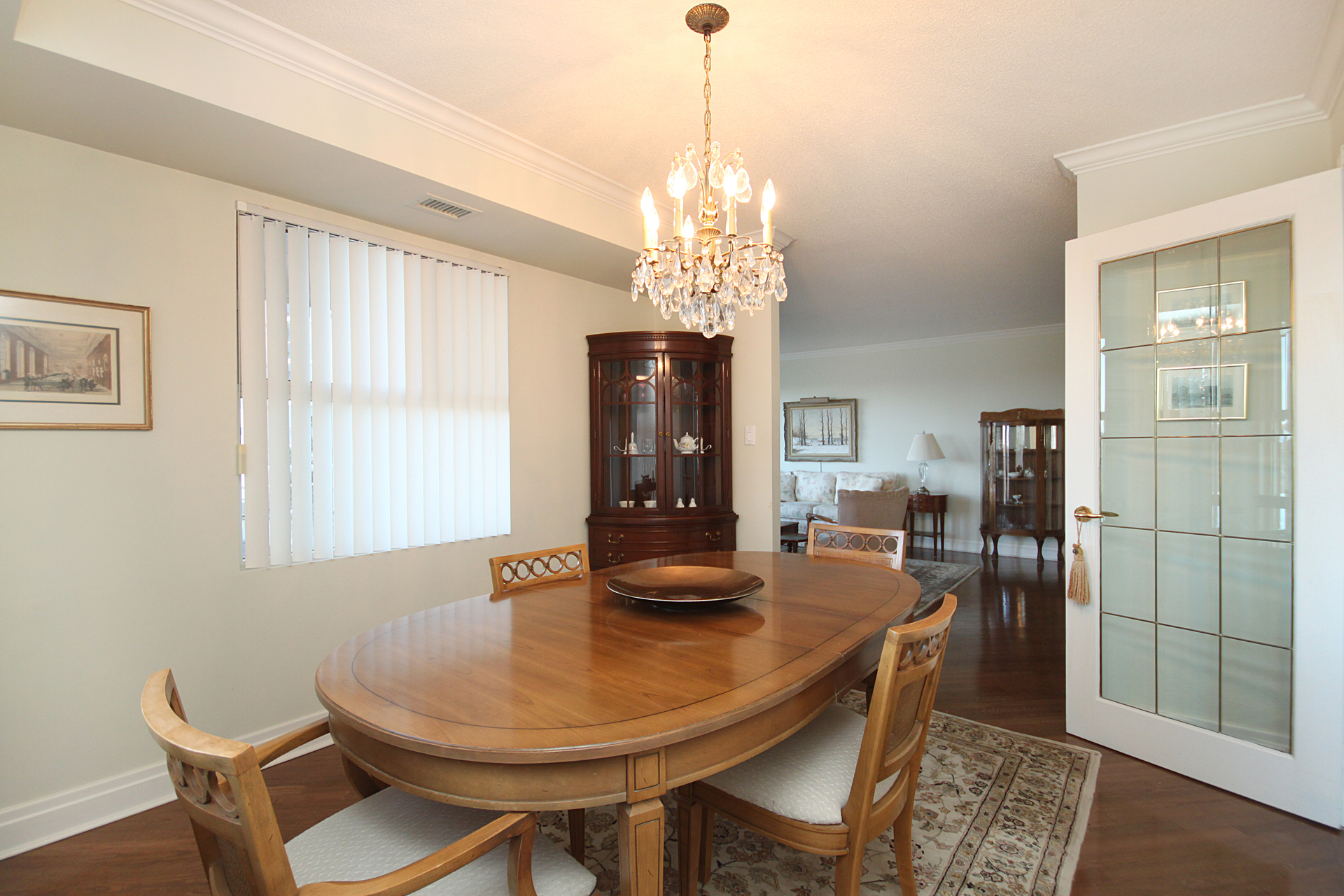 Dining Room at 201 - 18 Concorde Place, Banbury-Don Mills, Toronto