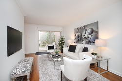 Living Room at 10 - 46 Three Valleys Drive, Parkwoods-Donalda, Toronto
