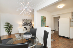 Dining Room & Kitchen at 10 - 46 Three Valleys Drive, Parkwoods-Donalda, Toronto