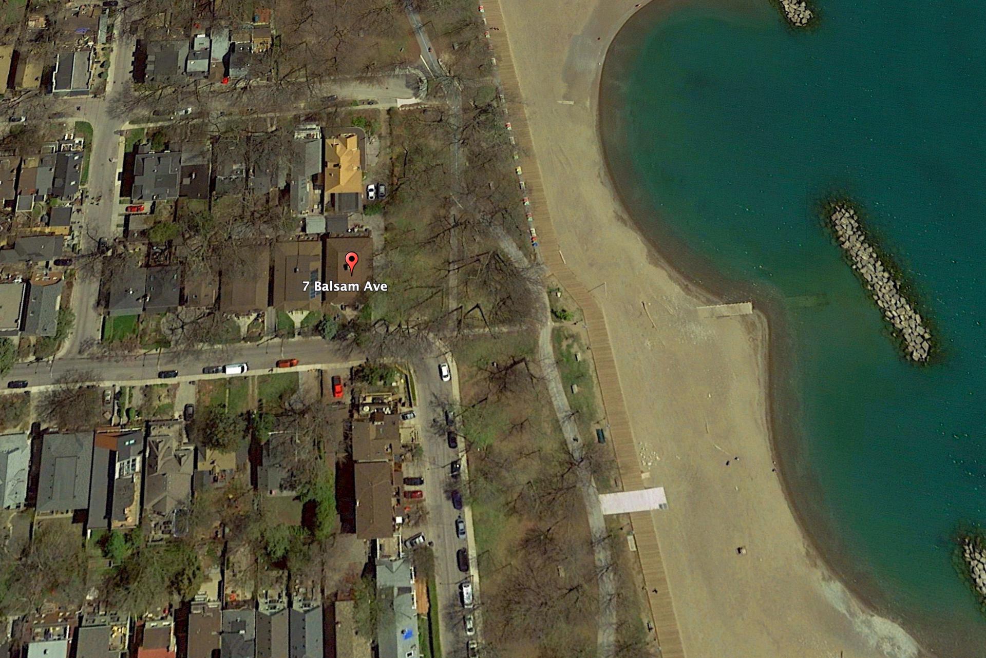 Aerial at 6 - 7 Balsam Avenue, The Beaches, Toronto