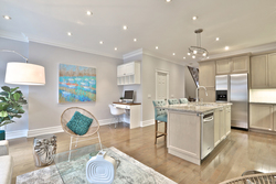 Family Room & Kitchen at 54 Unsworth Avenue, Lawrence Park North, Toronto