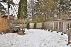 Backyard at 54 Unsworth Avenue, Lawrence Park North, Toronto