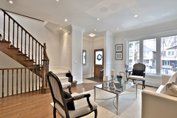 Foyer & Living Room at 54 Unsworth Avenue, Lawrence Park North, Toronto