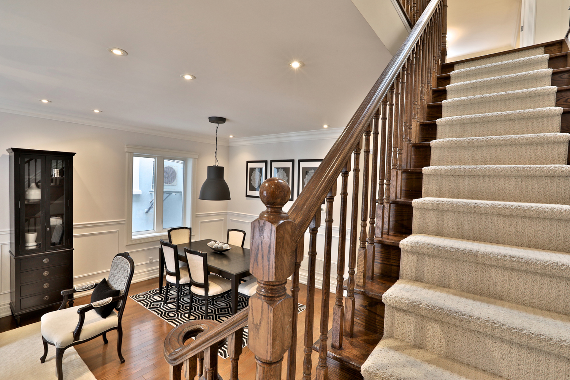 Upper Level Staircase at 54 Unsworth Avenue, Lawrence Park North, Toronto