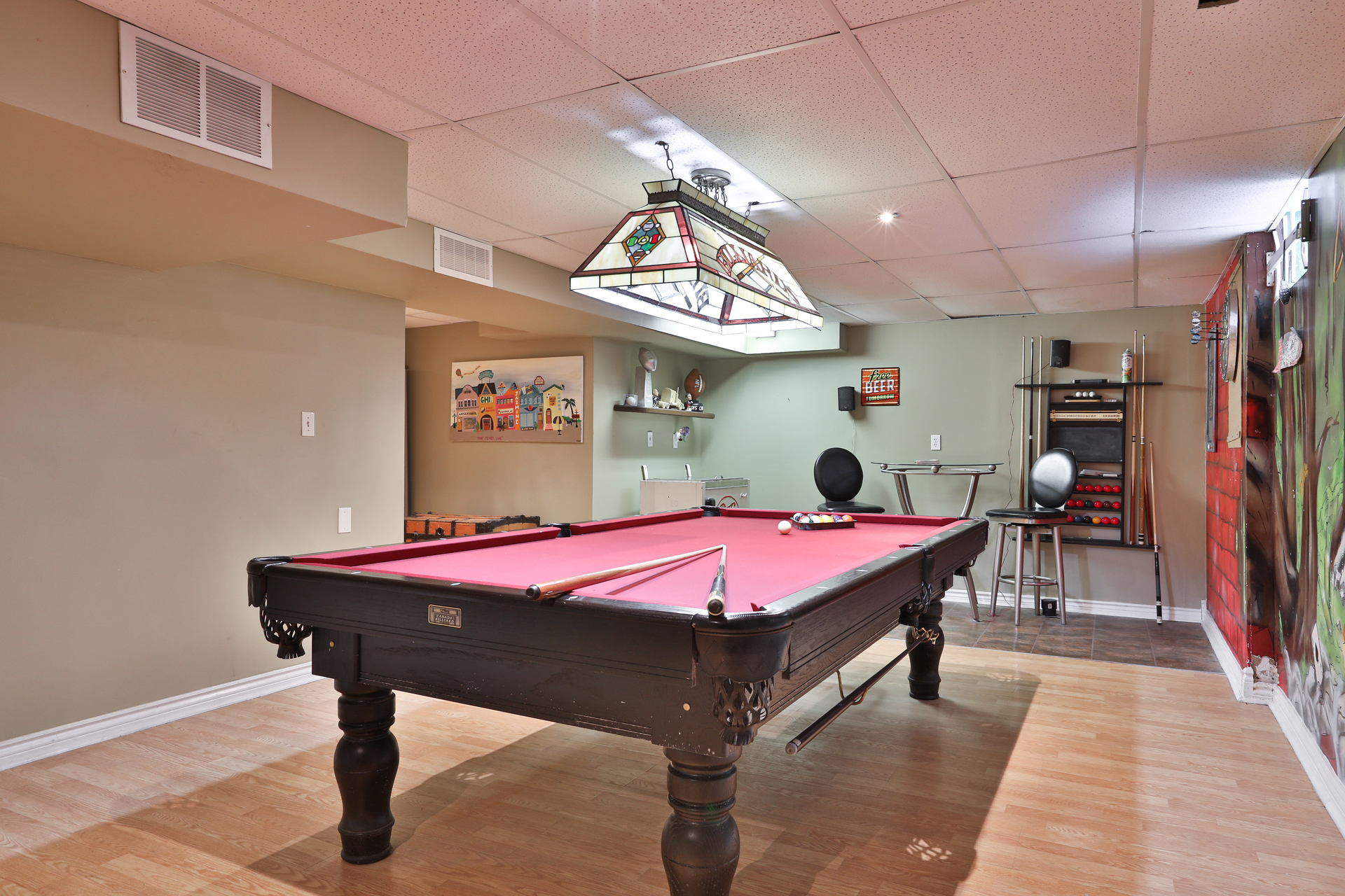 Recreation Room at 147 Manse Road, West Hill, Toronto