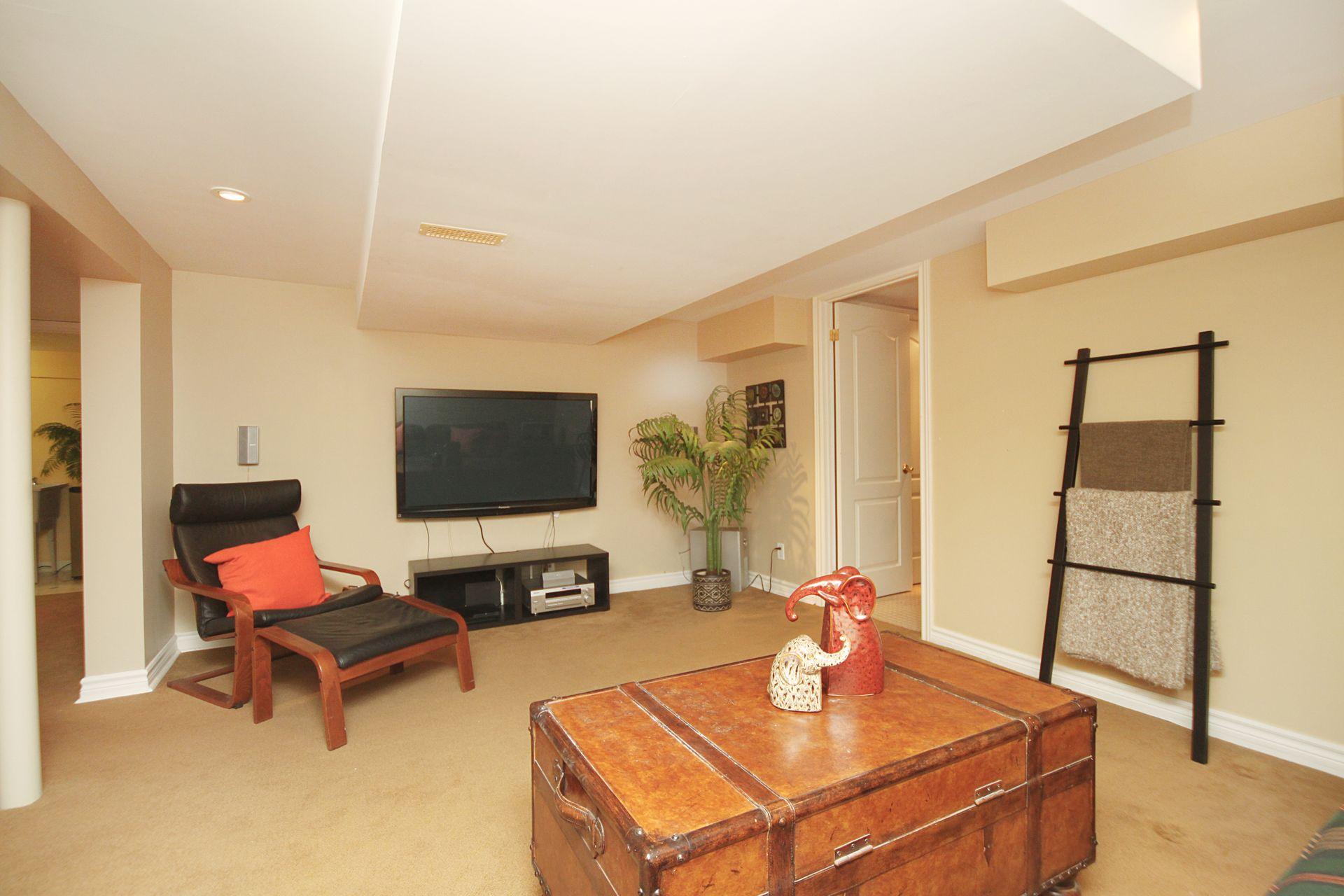 Recreation Room at 38 Addison Crescent, Banbury-Don Mills, Toronto