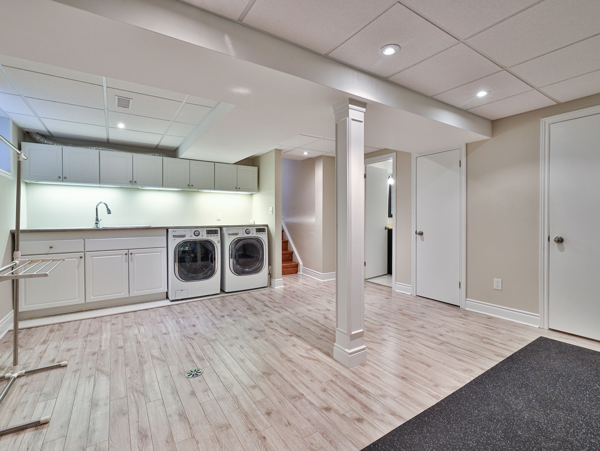 Recreation & Laundry Room at 62 Overbank Crescent, Parkwoods-Donalda, Toronto
