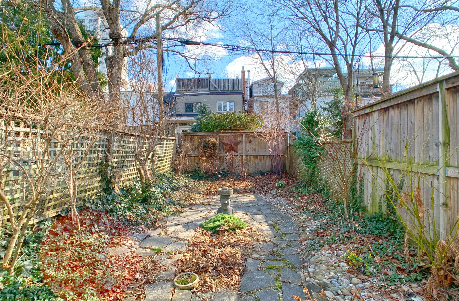 Backyard at 21 West Avenue, South Riverdale, Toronto