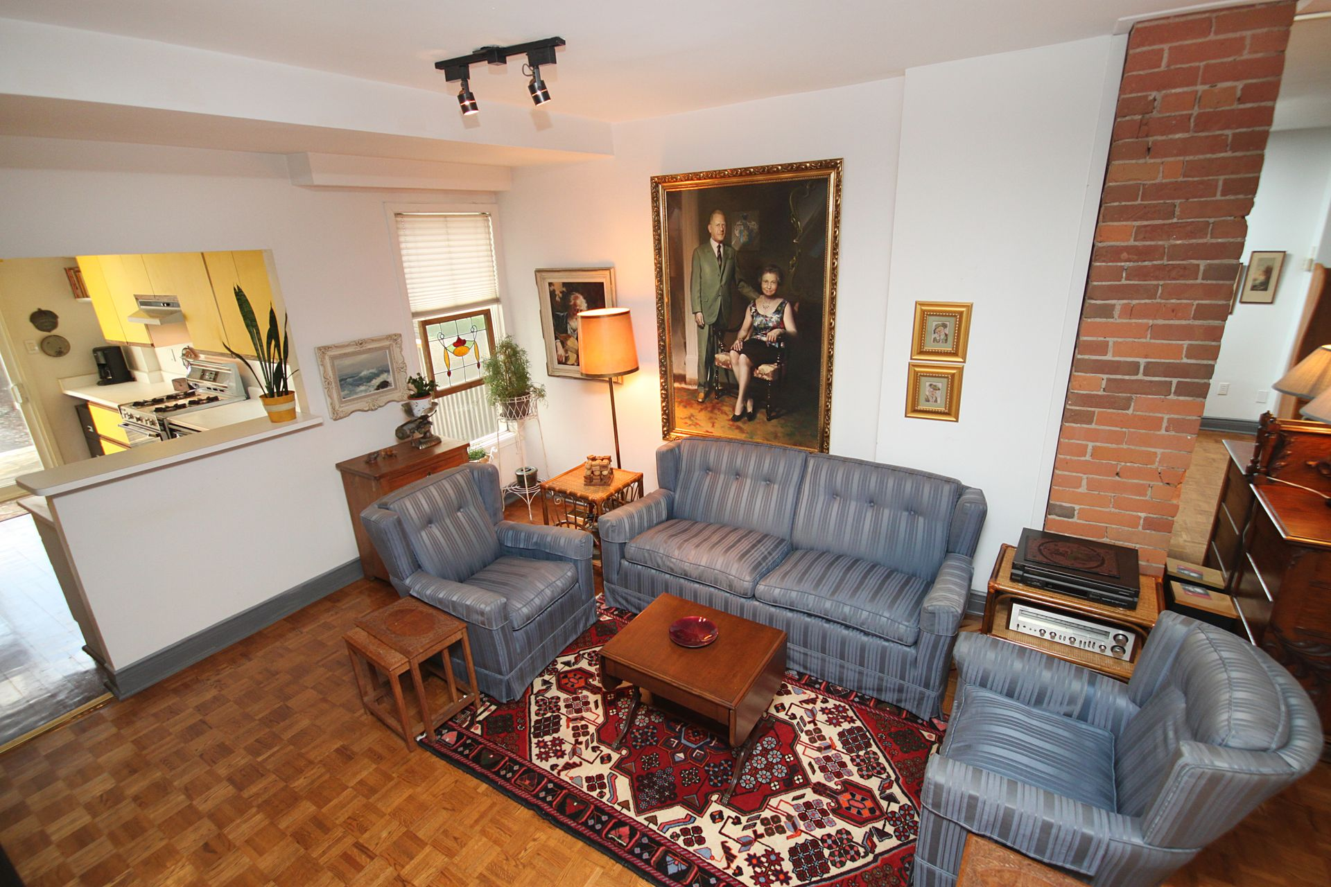 Living Room at 21 West Avenue, South Riverdale, Toronto