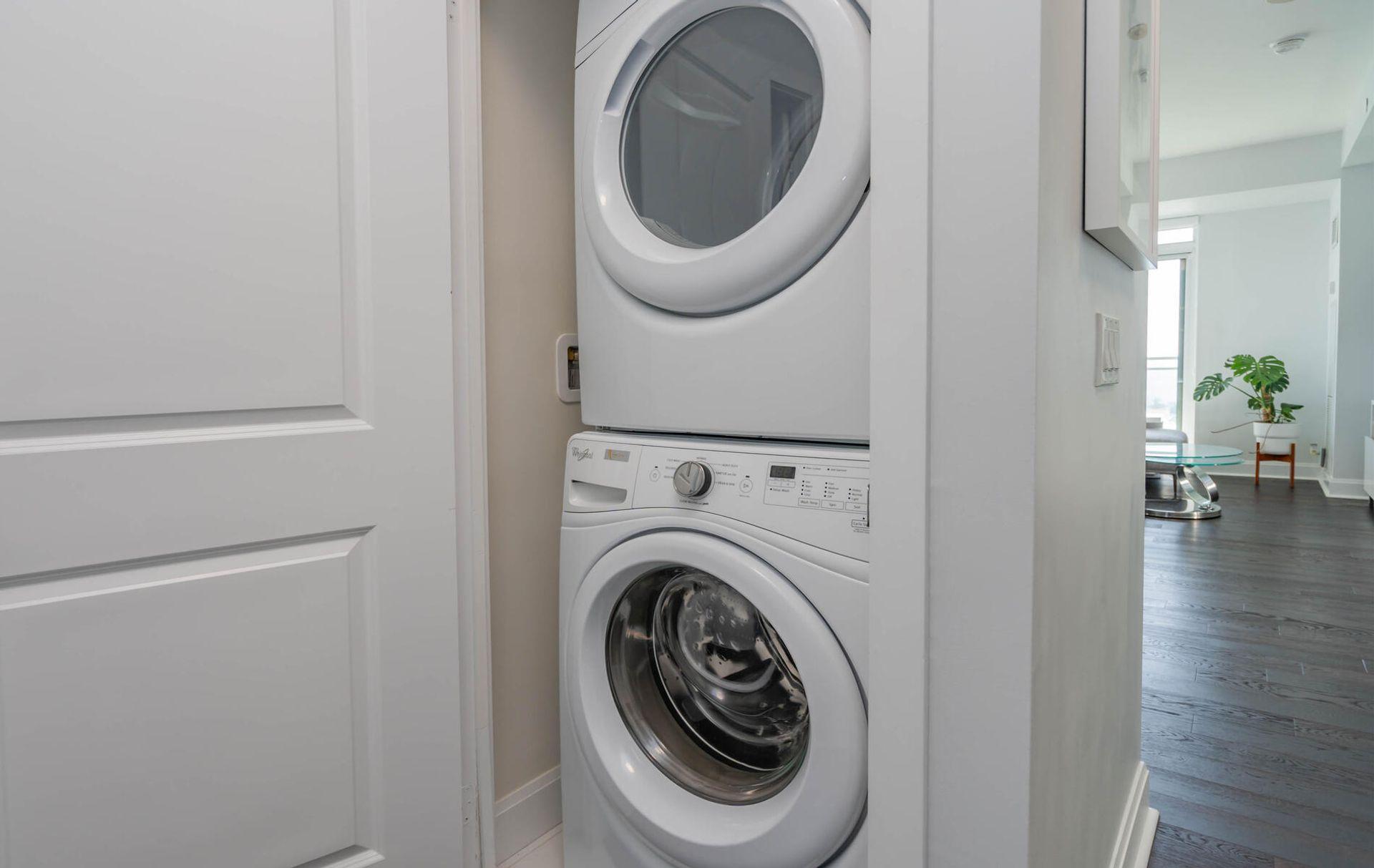 Ensuite Laundry at 2810 - 33 Shore Breeze Drive, Mimico, Toronto