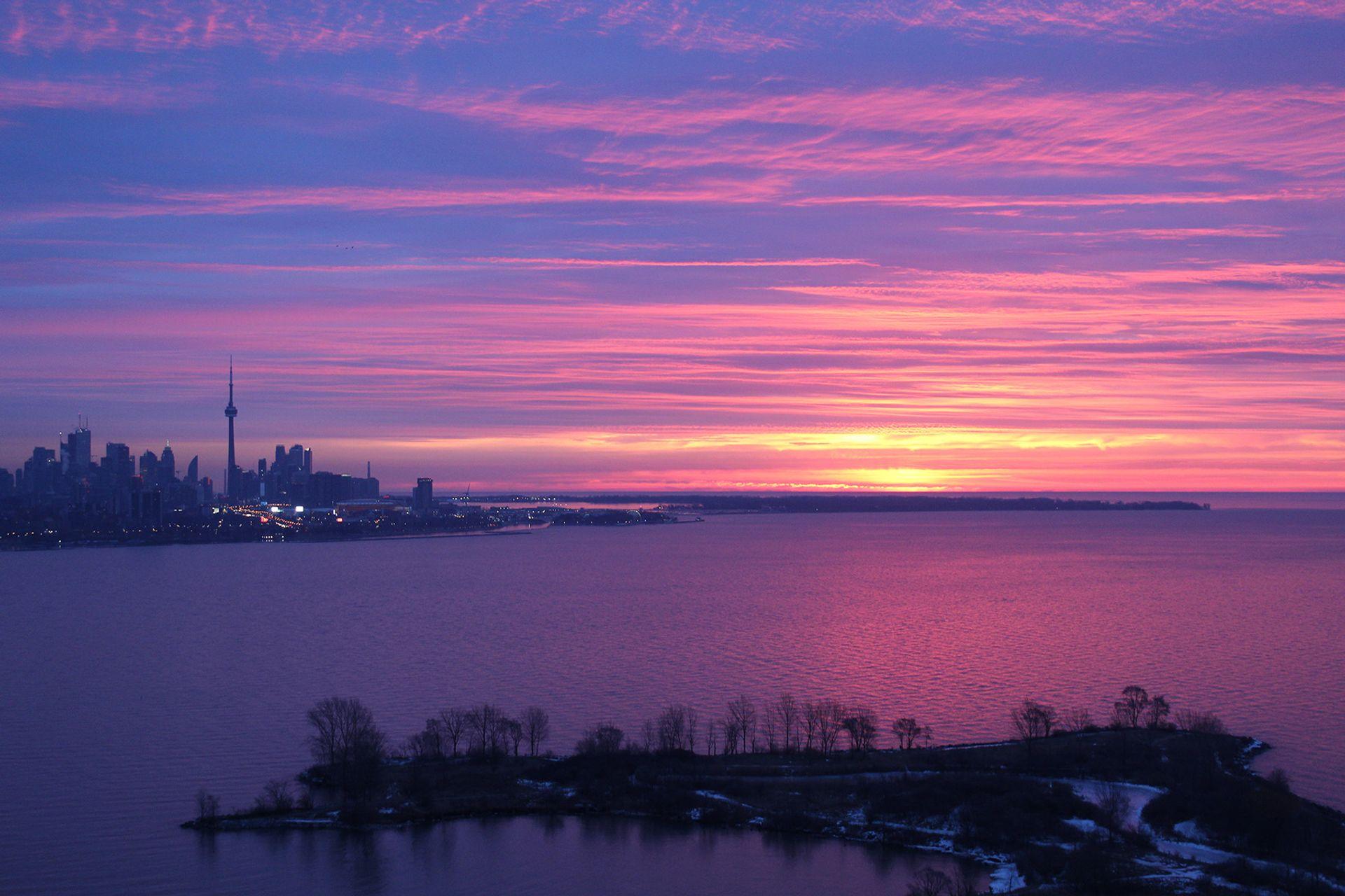 Sunset at 2810 - 33 Shore Breeze Drive, Mimico, Toronto
