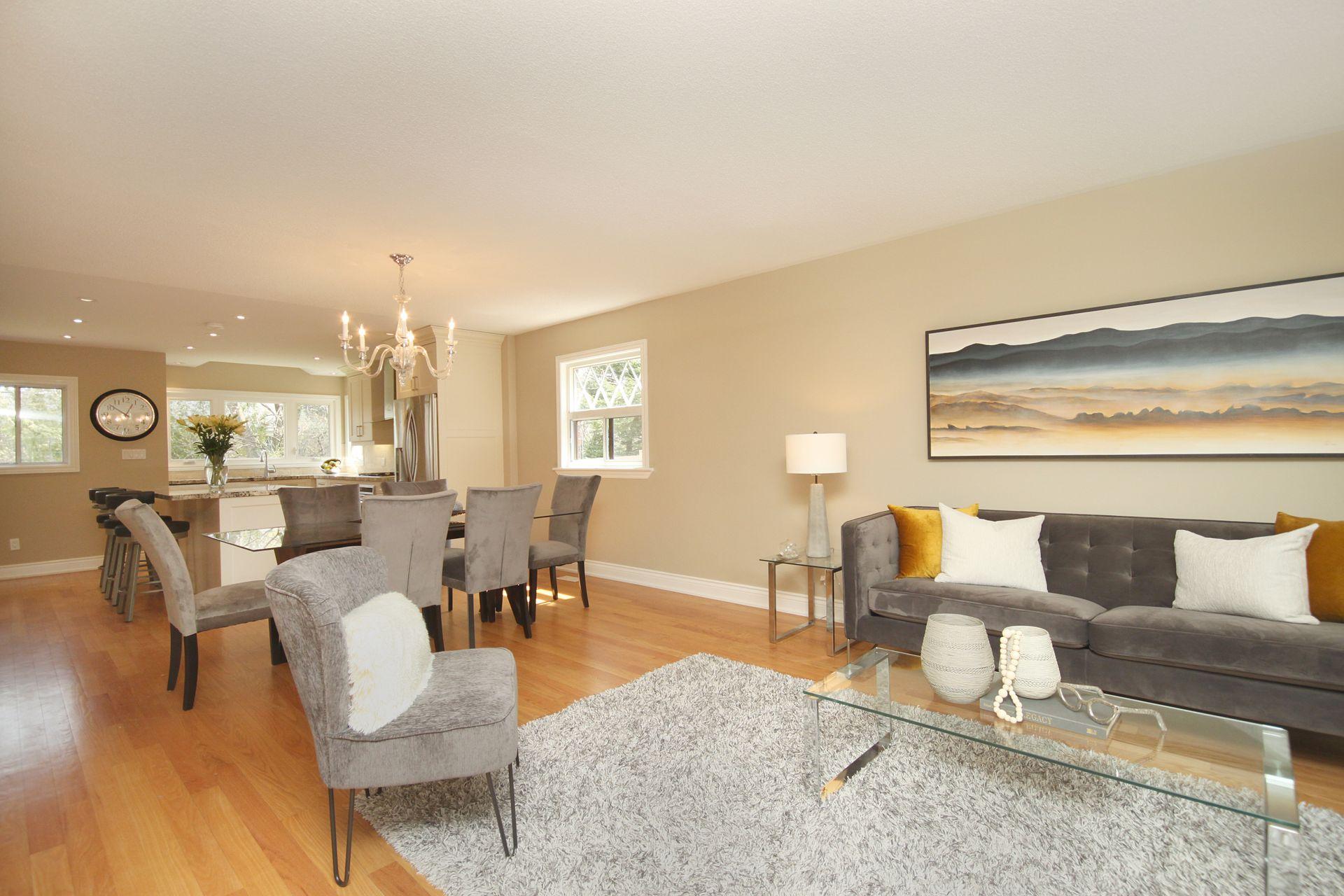 Living & Dining Room at 50 Rustywood Drive, Parkwoods-Donalda, Toronto