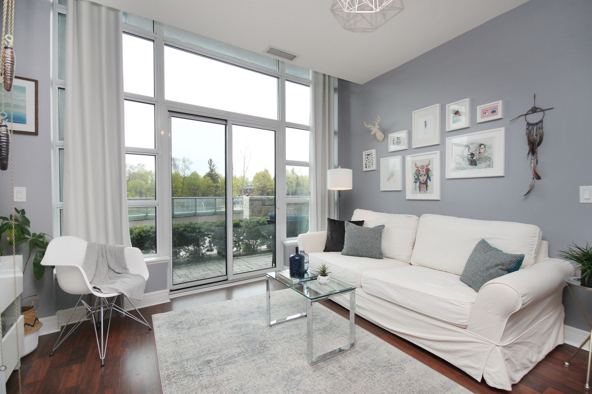 Living Room at 124 - 35 Brian Peck Crescent, Leaside, Toronto