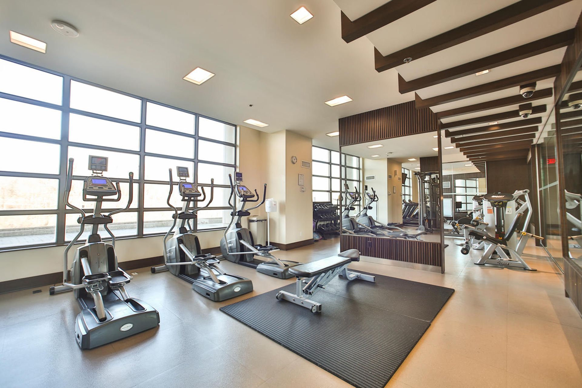 Exercise Room at 124 - 35 Brian Peck Crescent, Leaside, Toronto