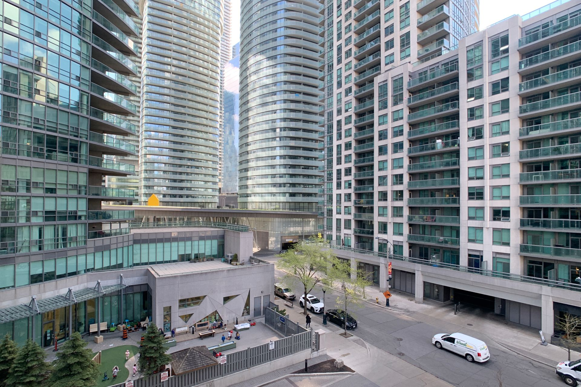 View from Balcony at 505 - 51 Lower Simcoe Street, Waterfront Communities C1, Toronto