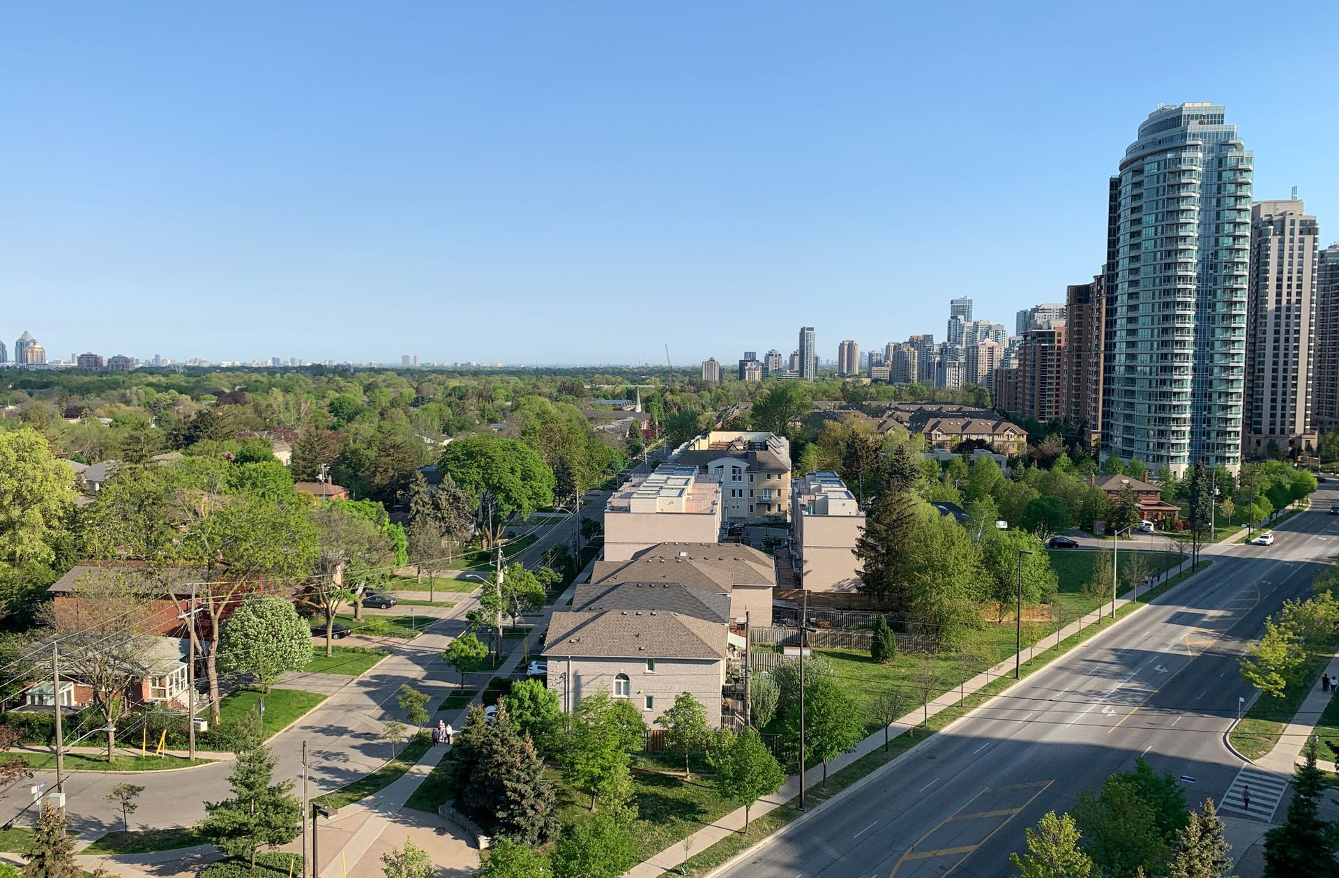View from Balcony at 1209 - 35 Finch Avenue, Willowdale East, Toronto
