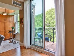 Living & Dining Room Balcony at 914 - 38 William Carson Crescent, St. Andrew-Windfields, Toronto