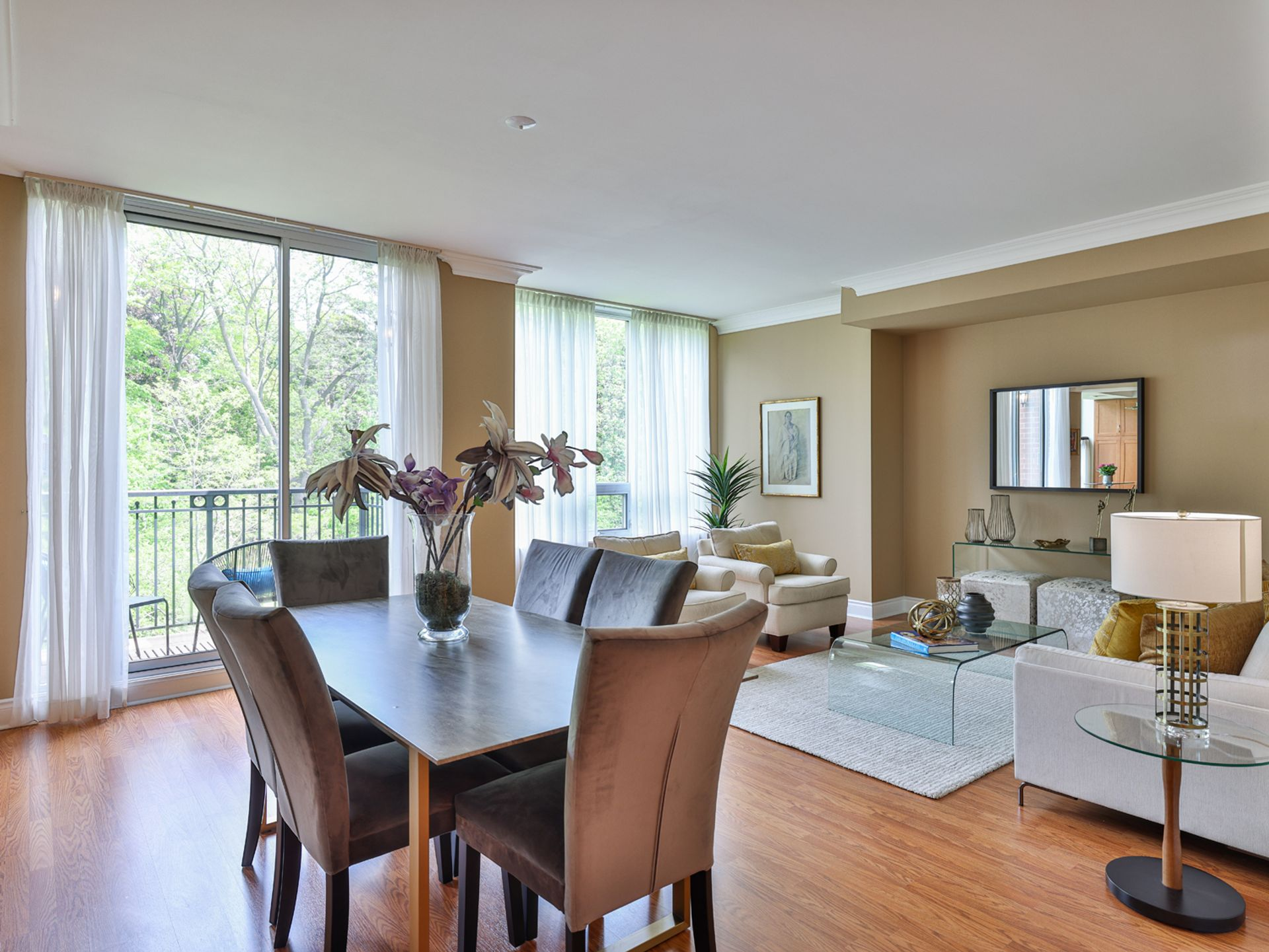 Dining & Living Room at 914 - 38 William Carson Crescent, St. Andrew-Windfields, Toronto