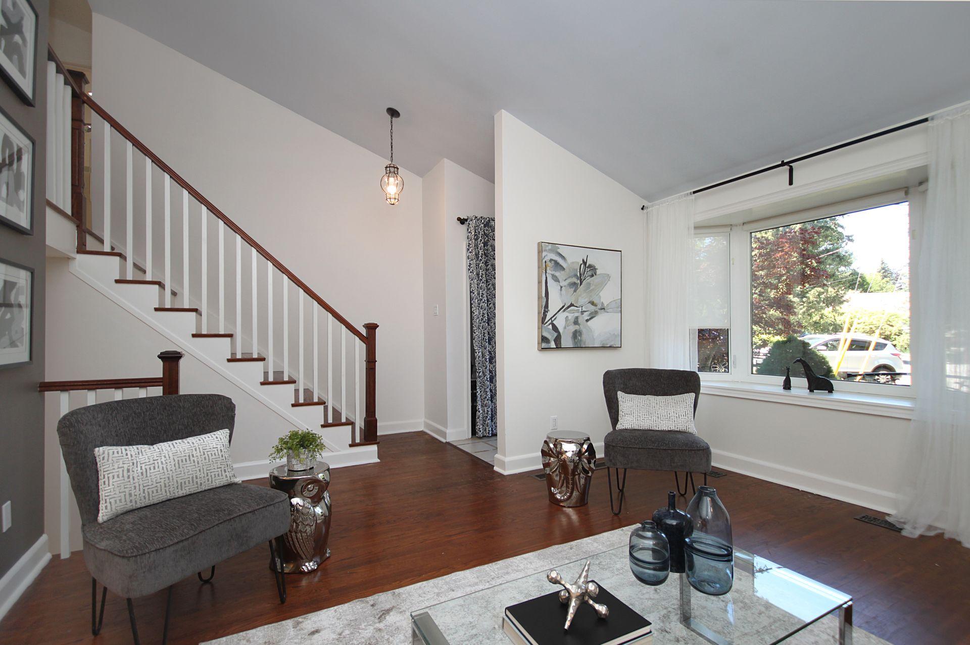 Living Room at 214 Three Valleys Drive, Parkwoods-Donalda, Toronto